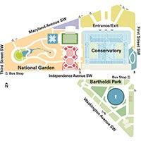 Hours And Location United States Botanic Garden - Us botanic garden map