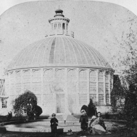 1869 - First Conservatory with visitors in front