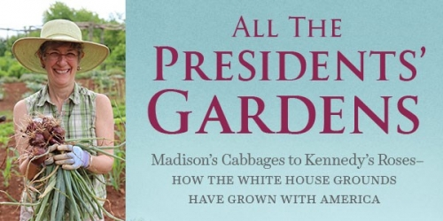 All the President's Gardens lecture title banner