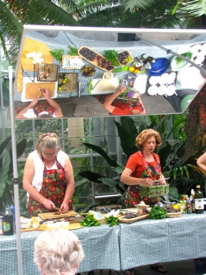 Cooking demonstrations at the U.S. Botanic Garden