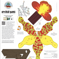 Print and fold orchid-gami