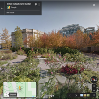 Google Street View image of the U.S. Botanic Garden Rose Garden